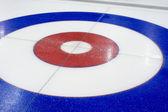 Curling pozadí ve sportovním centru — Stock fotografie
