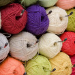 Stock Photo: Varicolored wool