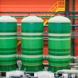 Three industrial tanks — Stock Photo