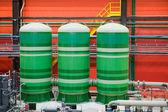 Tres tanques industriales — Foto de Stock