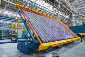 Manipulator for heavy sheet glass — Stock Photo