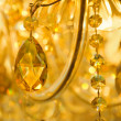 Beautiful yellow chandelier - Stock Photo