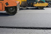 Road paving construction — Stock Photo