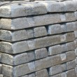 Stock Photo: Stack of raw silvery ingots