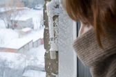 Extreme cold weather — Stock Photo