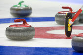 Curling stenen — Stockfoto