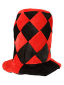 Röda och svarta maskerad hatt — Stockfoto