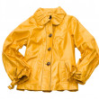 Jacket from a yellow leathe — Zdjęcie stockowe