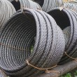 Stock Photo: Warehousing sheaf of metal cable