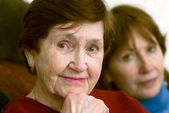 Portrait of senior mother and daughter — Stock Photo