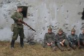 Russian Germans in captivity — Stock Photo
