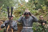 Prussian officer on duty — Stock Photo