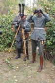 Prussian soldiers — Stock Photo