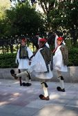 Greek solders in Athens — Stock Photo