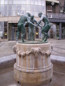 Dancing satyrs in Gliwice (Silesia, Poland) — Stock Photo