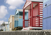 English Beach Huts — Stock Photo