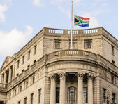 South African Flag Flying at Half-Mast — Stock Photo