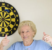 Old Lady On Target — Stock Photo