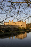 Leeds Castle Bathed in Winter Evening Light — Stock Photo