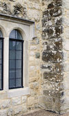 Arched Windows Set In Ancient Stone Building — Stock Photo