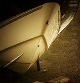 лодка в сухом доке — Стоковое фото
