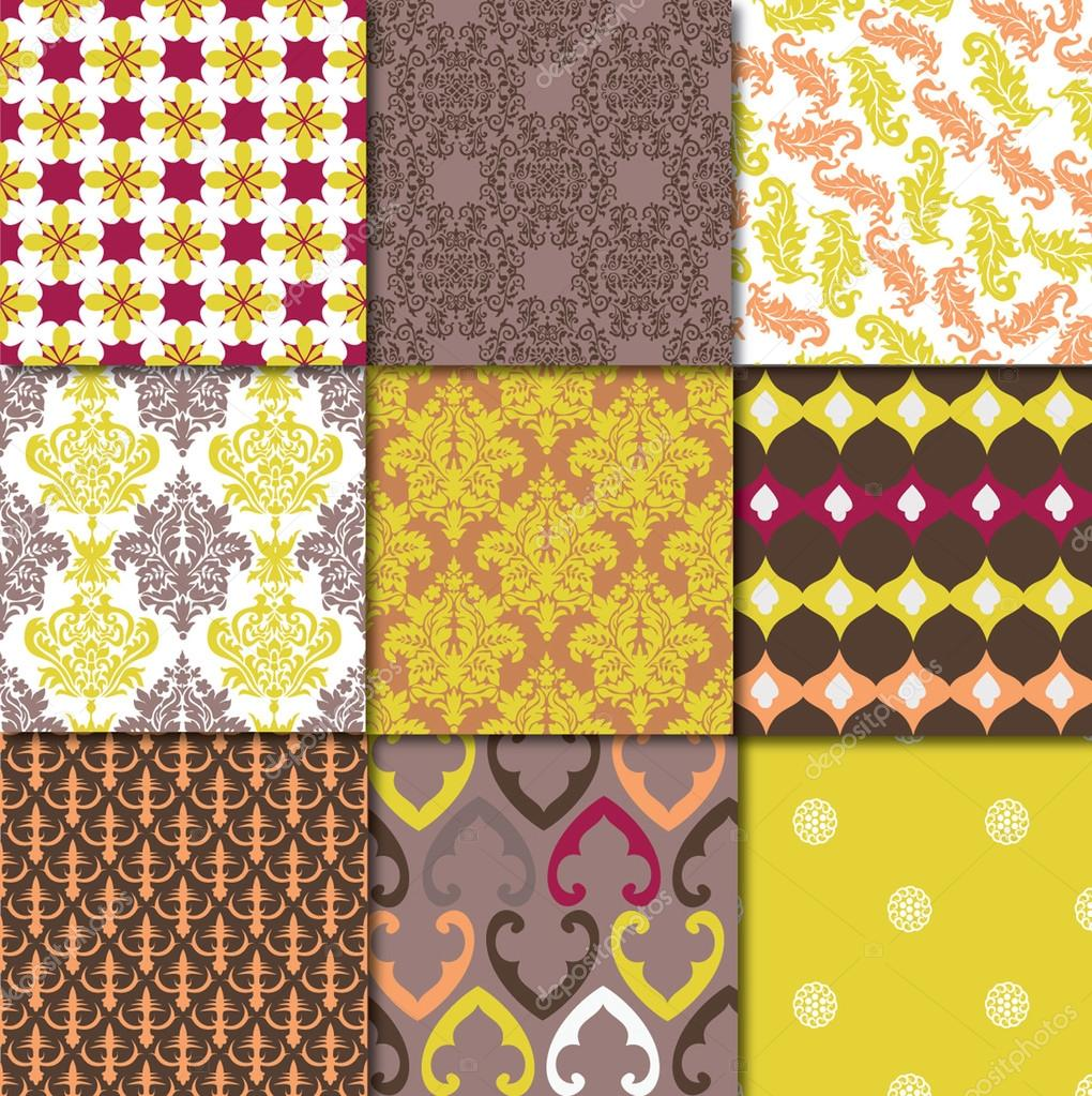 Colecci n de ornamentos vintage vector de stock for Coleccion vintage