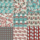 Samling av jul mönster — Stockvektor