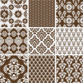 Collection of Damask Designs — Stock Vector