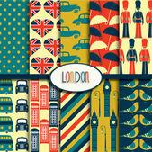 Londen patroon collectie — Stockvector