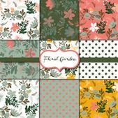 Floral Garden Collection — Stock Vector