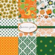 Set of floral summery wallpapers — Stock Vector #14181758