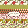 Set of floral summery wallpapers — Stock Vector #14191028