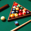 Stock Photo: Billiards elements