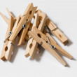 Stock Photo: Clothespins isolated on white background