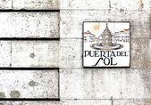 """""""Puerta del Sol"""" wall sign — Stock Photo"""