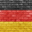 Germany flag on a brick wall — Stock Photo