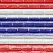 Costa Rica flag on an old brick wall — Stock Photo