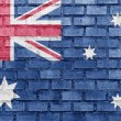 Australia flag on a brick wall - Stock Photo