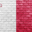 Malta flag on a brick wall — Stock Photo