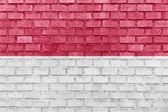 印度尼西亚国旗墙上 — 图库照片