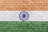 India flag on a brick wall — Stock Photo