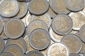 Two euros coins — Stock Photo