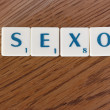 "Stock Photo: ""SEXO"" characters"