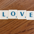 "Stock Photo: ""LOVE"" characters"