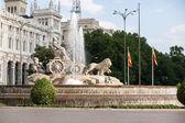 Cibeles plaza, madrid, españa — Foto de Stock