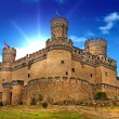 Medieval castle Manzanares - Spain - Stock Photo