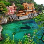 Villa in Portofino, Liguria, Italy. retro styled pictures — Stock Photo #12745292