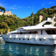 Portofino, Italy. Yachts - Stock Photo