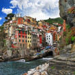 Bella Italia series - colorful Riomaggiore village, Cinque terre - Stock Photo