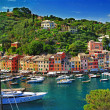 Portofino, Italy. stanning view of bay - Stock Photo